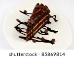 cake chocolate | Shutterstock . vector #85869814