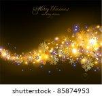 elegant christmas background... | Shutterstock .eps vector #85874953