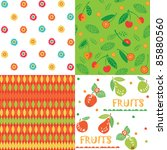 fruit backgrounds | Shutterstock .eps vector #85880560
