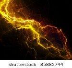 yellow fantasy lightning | Shutterstock . vector #85882744