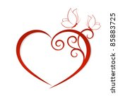 abstract vector heart with...