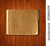 vector old blank notebook on... | Shutterstock .eps vector #85884439
