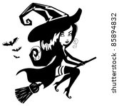 Cute Witch Silhouette An...