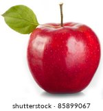 red apple on a white background. | Shutterstock . vector #85899067