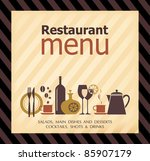 restaurant menu design | Shutterstock .eps vector #85907179