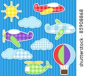 Set Of Cute Vector Colorful...