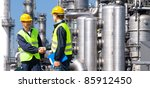 two petrochemical contractors... | Shutterstock . vector #85912450