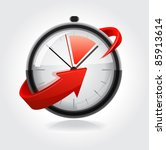 clock with red arrow. vector | Shutterstock .eps vector #85913614