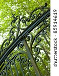 Large Wrought Iron Gate At The...