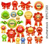 illustration of medals on... | Shutterstock .eps vector #85917283