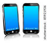 vector phone cell smart mobile... | Shutterstock .eps vector #85921936