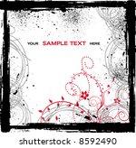 vector floral background | Shutterstock .eps vector #8592490