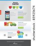 editable web template | Shutterstock .eps vector #85925674