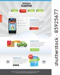 editable web template | Shutterstock .eps vector #85925677