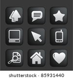 computer   web icons on square... | Shutterstock .eps vector #85931440