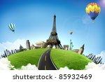 european holidays   travelling...   Shutterstock . vector #85932469