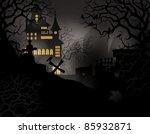 halloween background with... | Shutterstock . vector #85932871