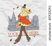 vector illustration of cartoon... | Shutterstock .eps vector #85933291