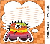 cartoon monster with message... | Shutterstock .eps vector #85938838