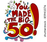50,50th,art,big,birthday,blue,cartoon,celebration,clip,clipart,colorful,confetti,congratulations,design,drawing