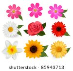 big set of beautiful colorful... | Shutterstock .eps vector #85943713