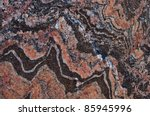 Banded gneiss rock - stock photo