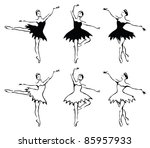 ballet woman dancers. | Shutterstock . vector #85957933