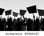 protesters crowd landscape... | Shutterstock .eps vector #85960132