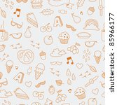seamless pattern of autumn... | Shutterstock .eps vector #85966177