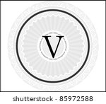vector abstract ornate seal ... | Shutterstock .eps vector #85972588