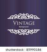 vintage style | Shutterstock .eps vector #85990186
