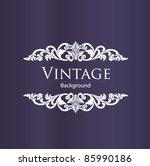 vintage style | Shutterstock .eps vector #85990186