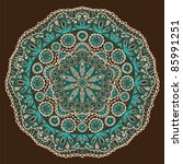 ornamental round lace pattern ... | Shutterstock .eps vector #85991251
