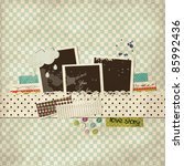 scrap template with a cloud | Shutterstock .eps vector #85992436