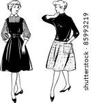 woman fashion | Shutterstock .eps vector #85993219