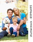 couple in city park with young... | Shutterstock . vector #85996495