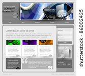 gray website template 960 grid.   Shutterstock .eps vector #86002435