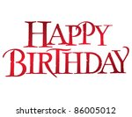 classic birthday vector... | Shutterstock .eps vector #86005012