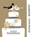 wedding invitation | Shutterstock .eps vector #86008999