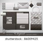 elegant corporate design.... | Shutterstock .eps vector #86009425