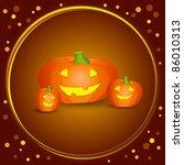 halloween pumpkins  vector   Shutterstock .eps vector #86010313