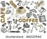 coffee set background | Shutterstock . vector #86020960