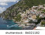 view of village against... | Shutterstock . vector #86021182