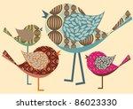 Birds Illustration Vector