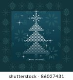 christmas tree vector | Shutterstock .eps vector #86027431