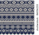knitted background in fair isle ... | Shutterstock .eps vector #86036233
