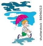 figure boy who ran through the... | Shutterstock .eps vector #86046313