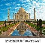 taj mahal in india | Shutterstock . vector #86059129