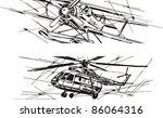 aviation  plane  helicopter | Shutterstock .eps vector #86064316