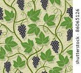 grape seamless pattern | Shutterstock .eps vector #86065126